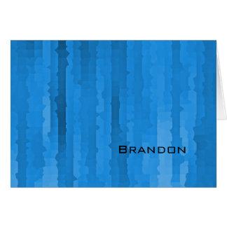 Filets bleus de techno de Mitzvah de barre Cartes De Vœux