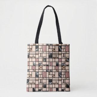 Filets d'art moderne et sac fourre-tout à motif de
