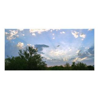 Filets de Sun de soirée à travers une copie de Impression Photo