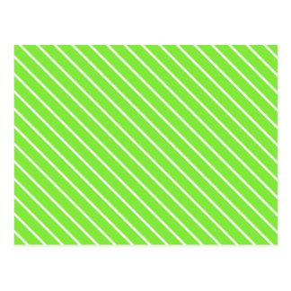 Filets diagonaux - vert et blanc de chaux carte postale