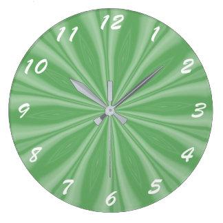 Filets vert pomme grande horloge ronde