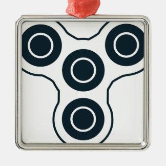 Fileur simple de personne remuante ornement carré argenté