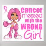 Fille 1 de combat de cancer du sein