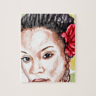 Fille africaine puzzle