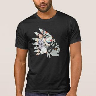 Fille américaine de vélomoteur de Tomahawk T-shirts