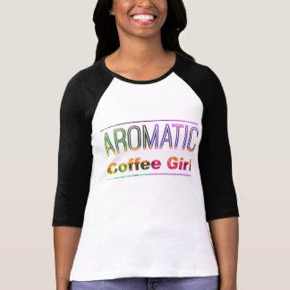 Fille aromatique de café t-shirt