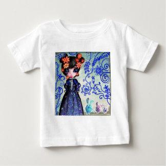 fille aux lapinous t-shirt pour bébé