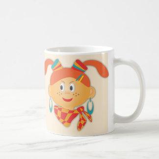 Fille avec des queues de cheval mug