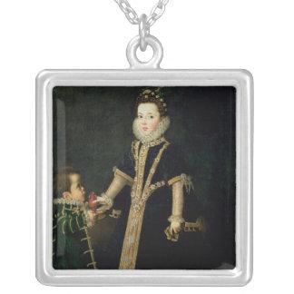 Fille avec un nain, vraisemblablement un portrait collier