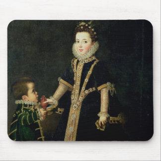 Fille avec un nain, vraisemblablement un portrait tapis de souris