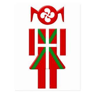 Fille Basque drapeau Euskadi Bayonne Cartes Postales