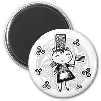 Fille bretonne magnets pour réfrigérateur