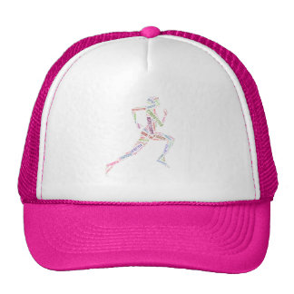 Fille courante casquettes