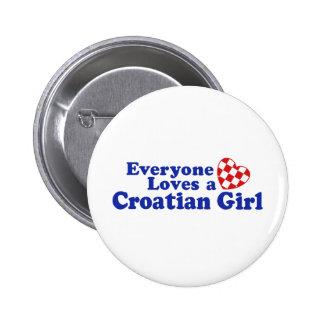 Fille croate badge