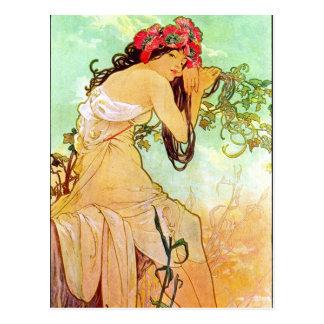 Fille d'Alphonse Mucha par la carte postale