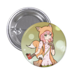 Fille d'Anime à Fox Cosplay Badge