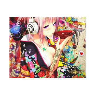 Fille d'Anime de musique Toiles