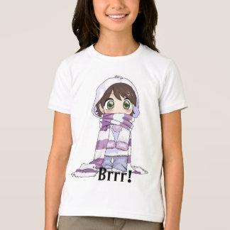 Fille d'Anime enveloppée dans le T-shirt de