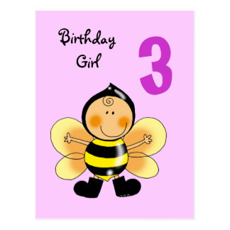 Anniversaire 3 ans cartes postales - Anniversaire 3 ans fille ...