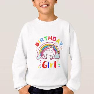 Fille d'anniversaire de licorne sweatshirt