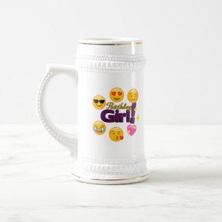 Fille d'anniversaire (emojis) chope à bière