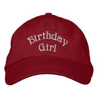 Fille d'anniversaire mignonne casquette brodée