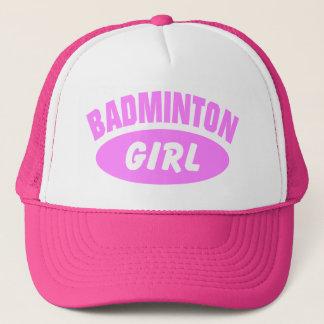 Fille de badminton casquette