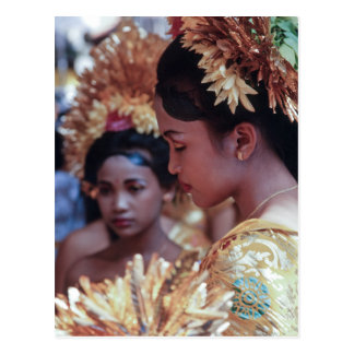 Fille de Balinese Carte Postale