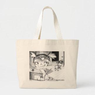 Fille de couture folle sac en toile jumbo