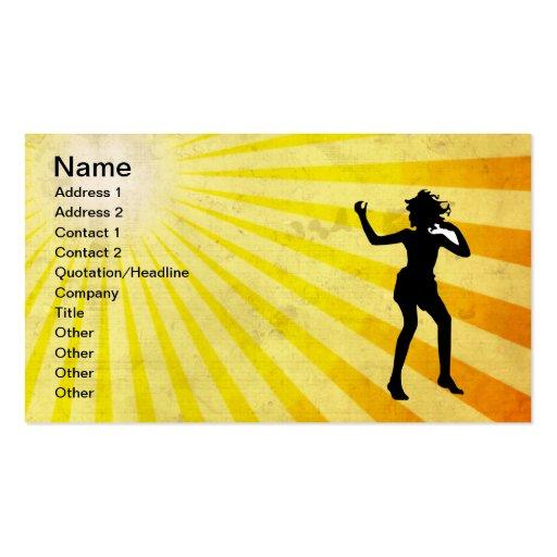Fille de danse ; jaune modèle de carte de visite