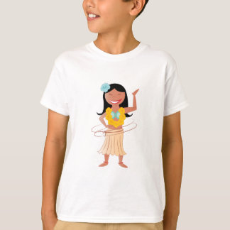 Fille de danse polynésienne t-shirt