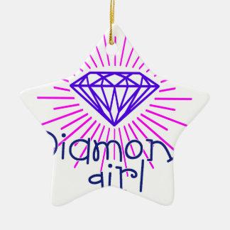 fille de diamant, briller de gemme ornement étoile en céramique