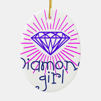 fille de diamant, briller de gemme ornement ovale en céramique