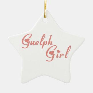 Fille de Guelph Ornement Étoile En Céramique