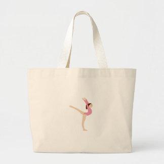 Fille de gymnaste sac en toile jumbo