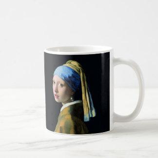 Fille de janv. Vermeer avec un art du baroque de Mug Blanc