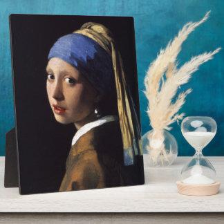 Fille de Johannes Vermeer avec une boucle d'oreill Photo Sur Plaque