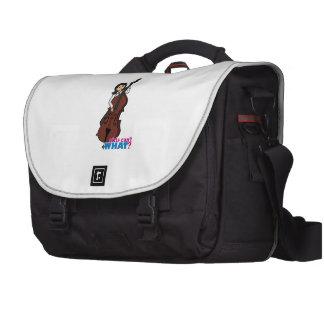 Fille de joueur de contrebasse - milieu sacoche pour ordinateurs portables