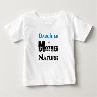 Fille de mère nature t-shirt pour bébé