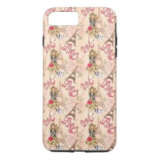 Fille de mode dans le motif de Paris Coque iPhone 7 Plus