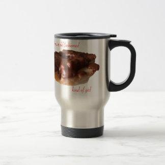 Fille de mode de chocolat de beignet vieille mug de voyage