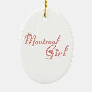 Fille de Montréal Ornement Ovale En Céramique