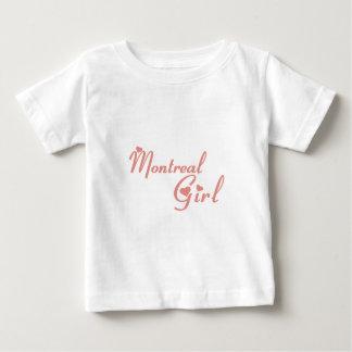 Fille de Montréal T-shirt Pour Bébé
