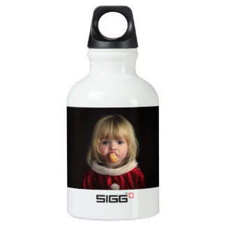 Fille de Noël - enfant de Noël - fille mignonne Bouteille D'eau En Aluminium