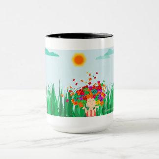 Fille de papillon mug