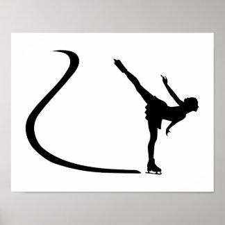 Fille de patinage artistique posters