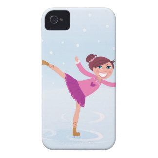 Fille de patinage de glace : Rose et bleu sur la Coque Case-Mate iPhone 4