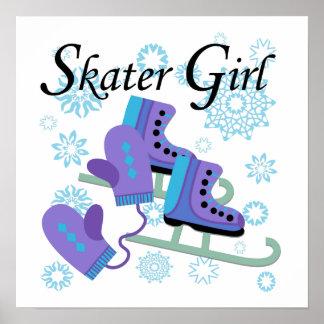 Fille de patineur affiches