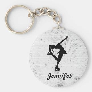 Fille de patineur artistique et porte - clé de nom porte-clef