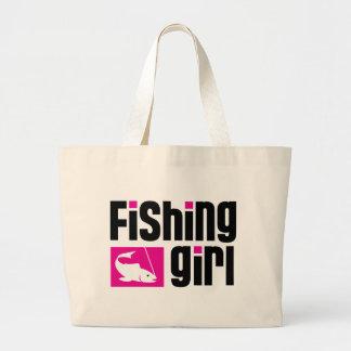 Fille de pêche sac en toile jumbo